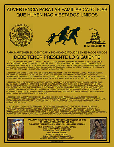 Fatima Movement Estados Unidos Flier - Spanish