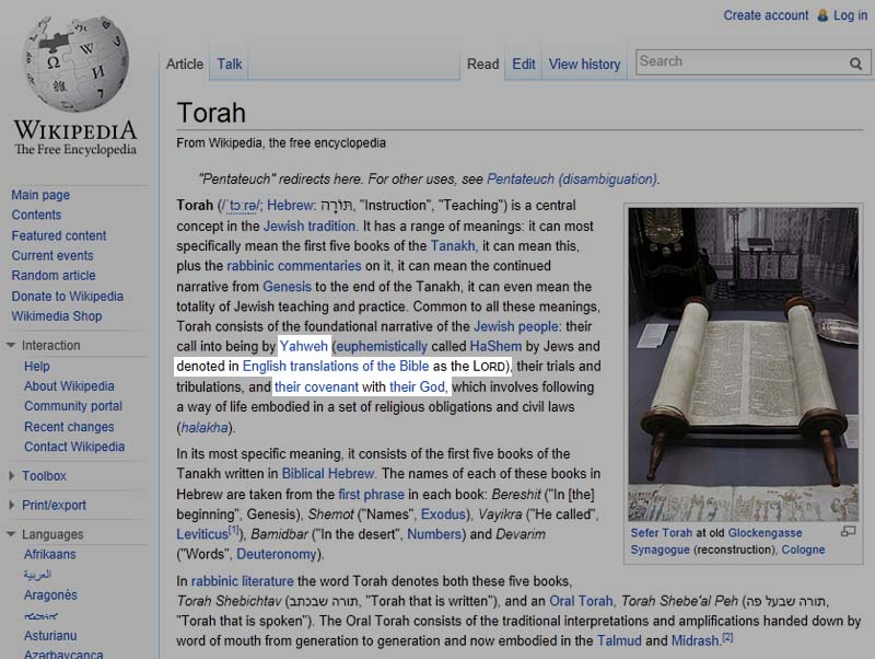 Wikipedia has recently figured out the Jewish Lord deception.