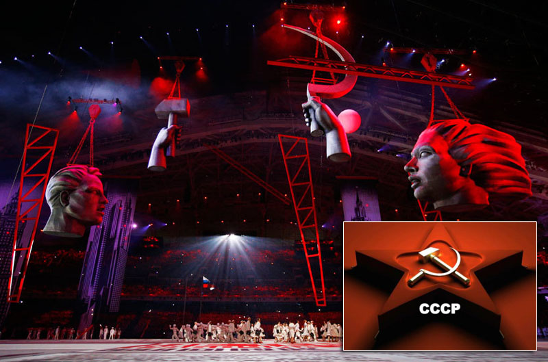 Sochi Olympics Opening Ceremony featuring communist sybols