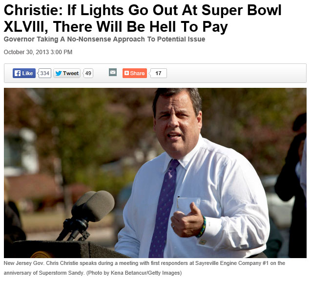 Chris Christie - Hell to Pay