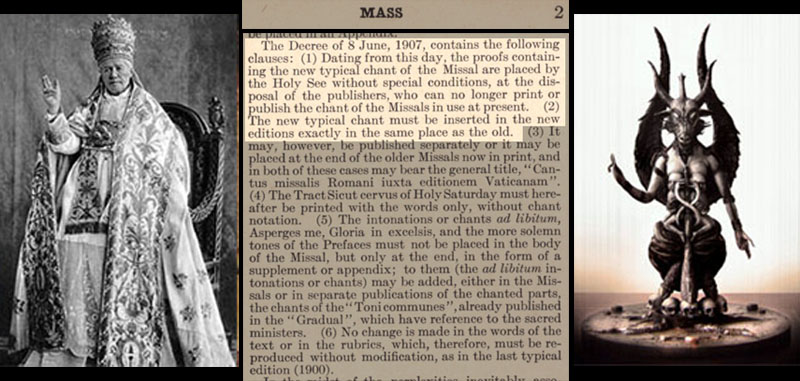 Freemason Pius X and his changes