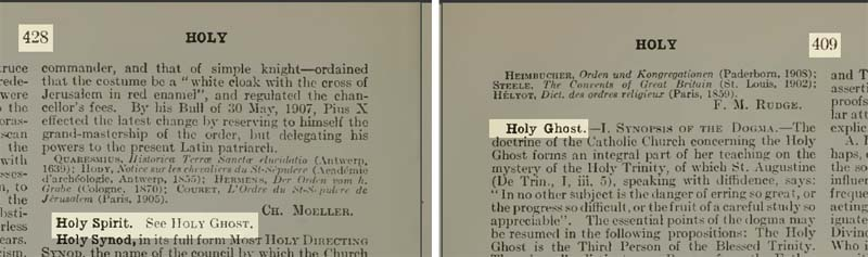 Holy Ghost in Catholic Encyclopedia