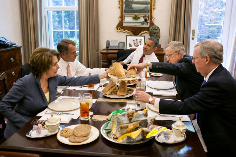 Masonic Two Party system enjoys lunch together