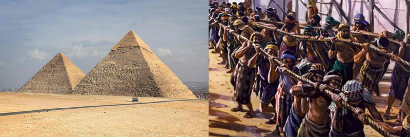 Slaves of the pyramids of Egypt