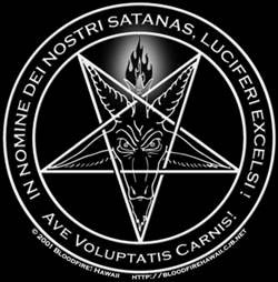The symbol of the church of Satan, a pentagram