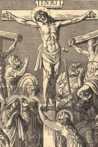 Masonic Jesus from the German Catholic Bible, scan 1481