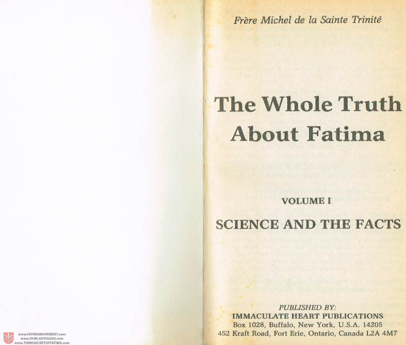 The Whole Truth About Fatima Volume 1 pages a-b