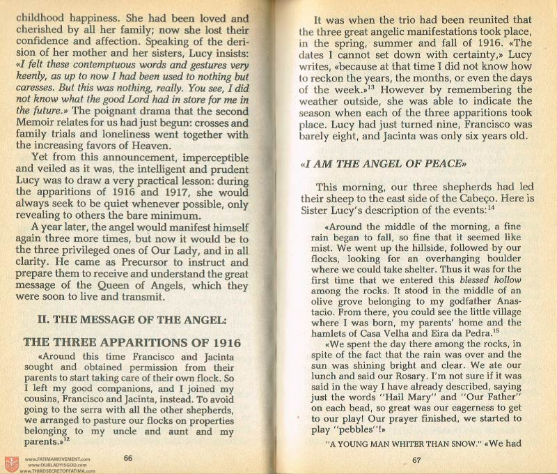 The Whole Truth About Fatima Volume 1 pages 66-67