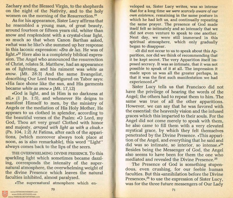 The Whole Truth About Fatima Volume 1 pages 70-71