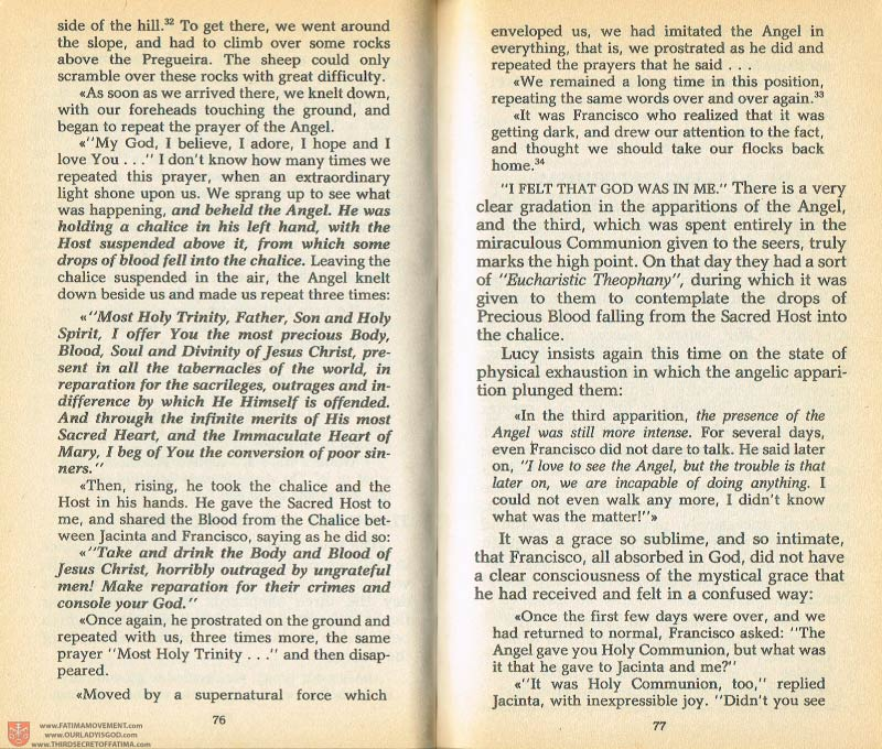 The Whole Truth About Fatima Volume 1 pages 76-77