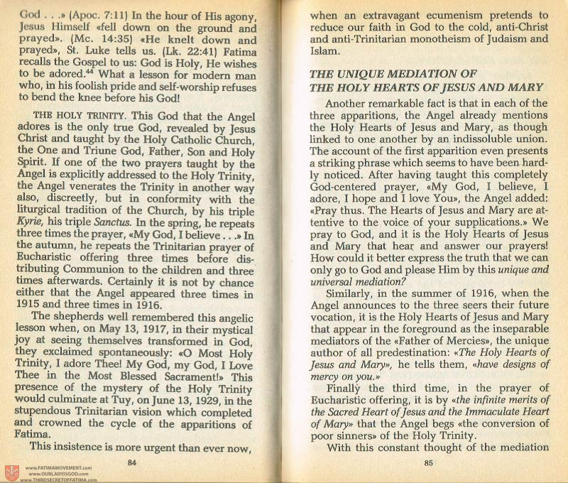 The Whole Truth About Fatima Volume 1 pages 84-85