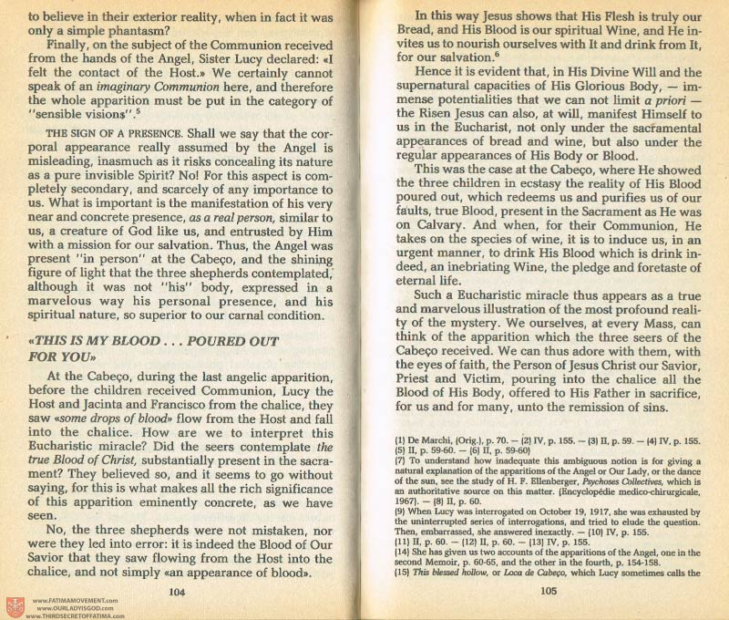The Whole Truth About Fatima Volume 1 pages 104-105