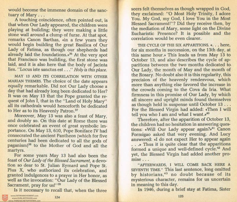 The Whole Truth About Fatima Volume 1 pages 124-125