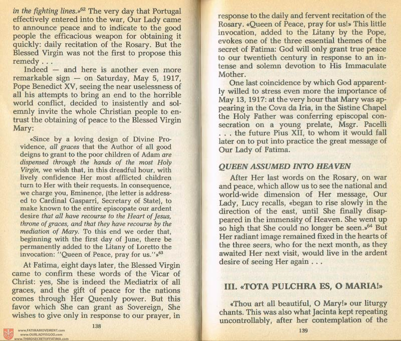 The Whole Truth About Fatima Volume 1 pages 138-139