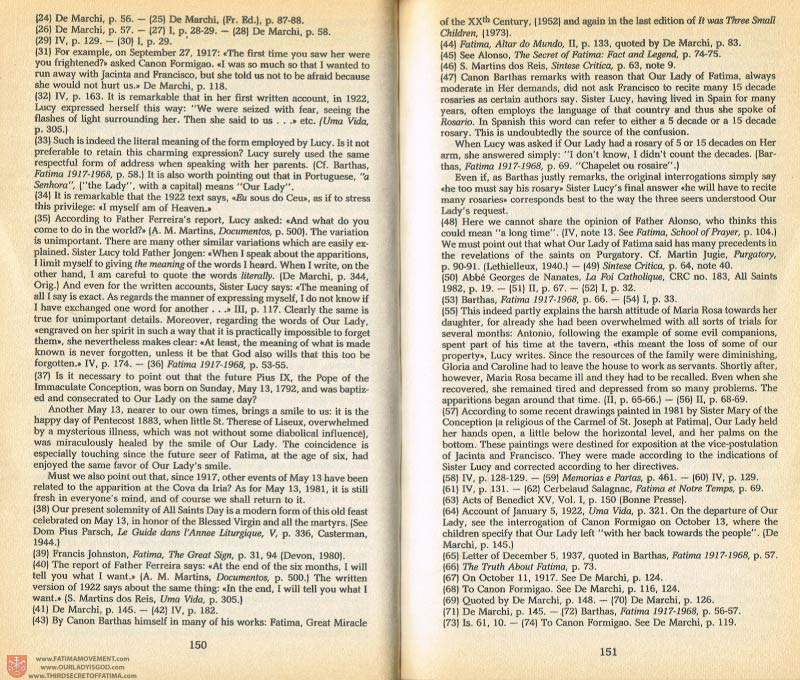 The Whole Truth About Fatima Volume 1 pages 150-151