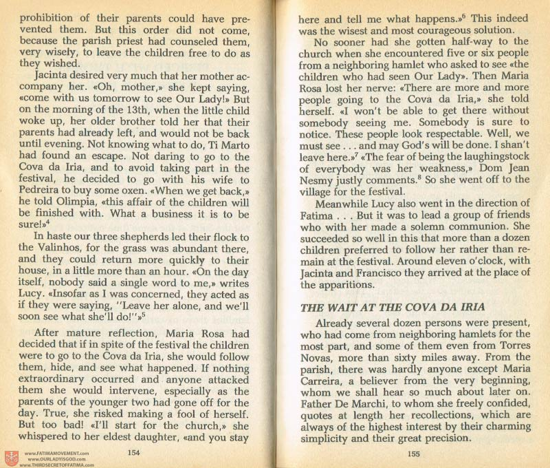 The Whole Truth About Fatima Volume 1 pages 154-155