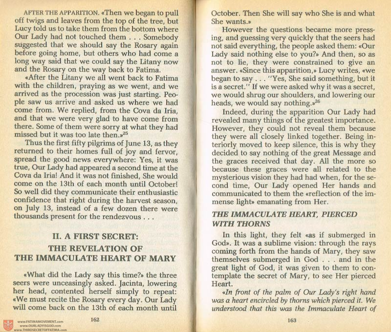 The Whole Truth About Fatima Volume 1 pages 162-163