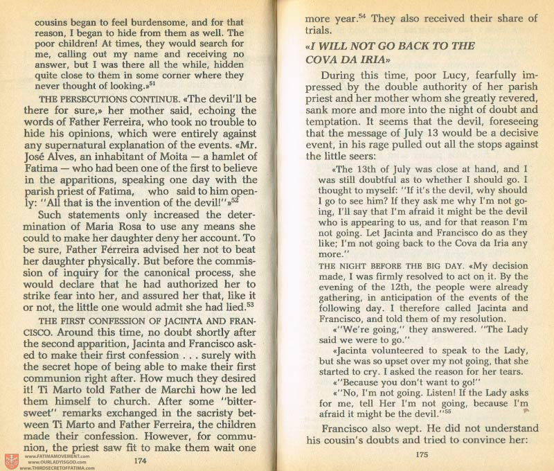 The Whole Truth About Fatima Volume 1 pages 174-175