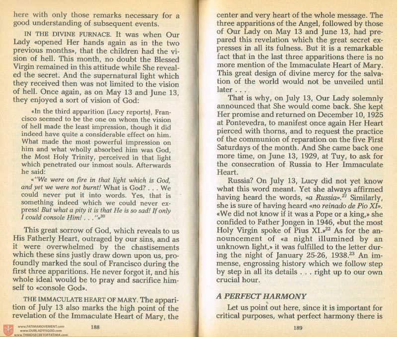 The Whole Truth About Fatima Volume 1 pages 188-189