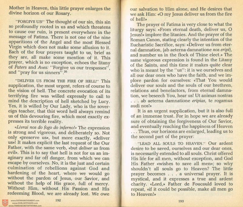 The Whole Truth About Fatima Volume 1 pages 192-193