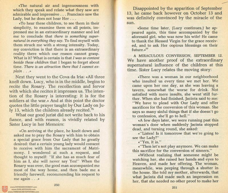 The Whole Truth About Fatima Volume 1 pages 250-251