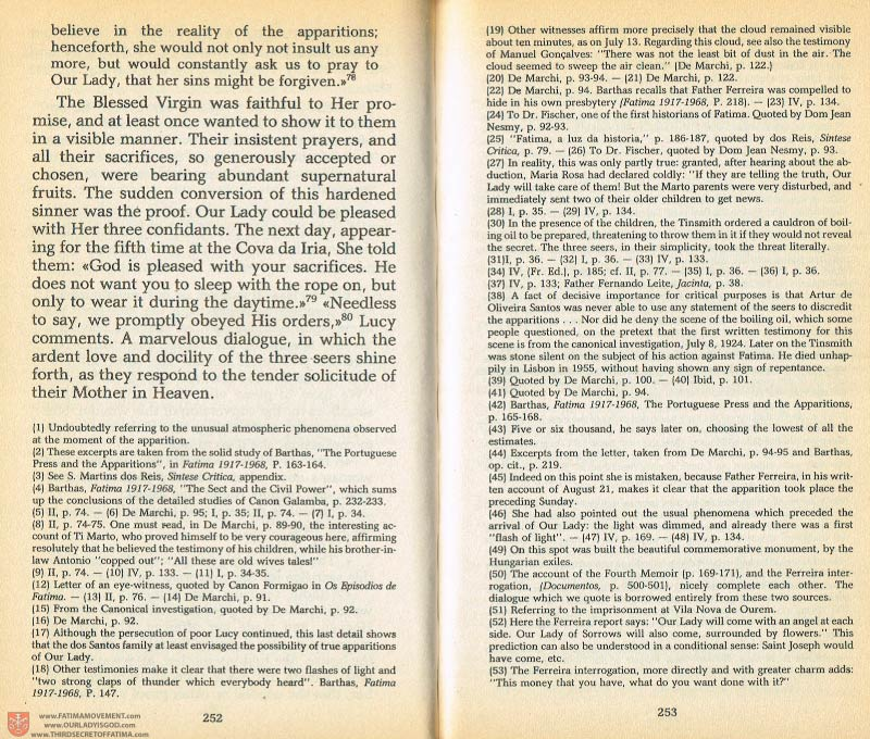 The Whole Truth About Fatima Volume 1 pages 252-253