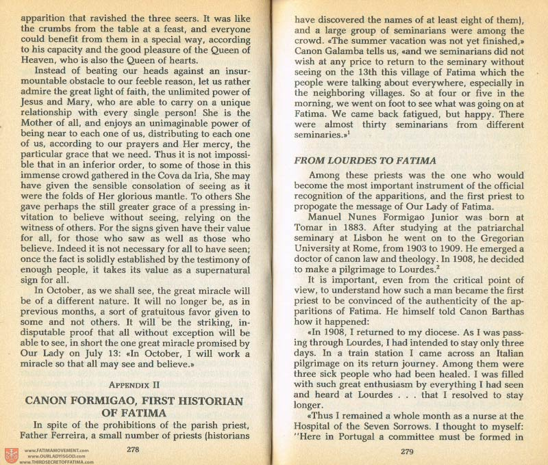 The Whole Truth About Fatima Volume 1 pages 278-279