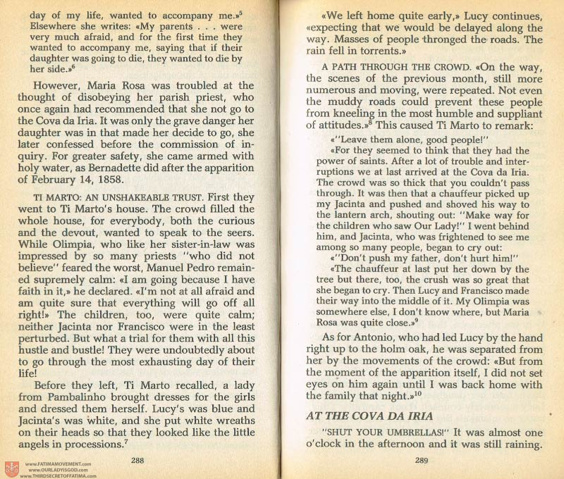 The Whole Truth About Fatima Volume 1 pages 288-289