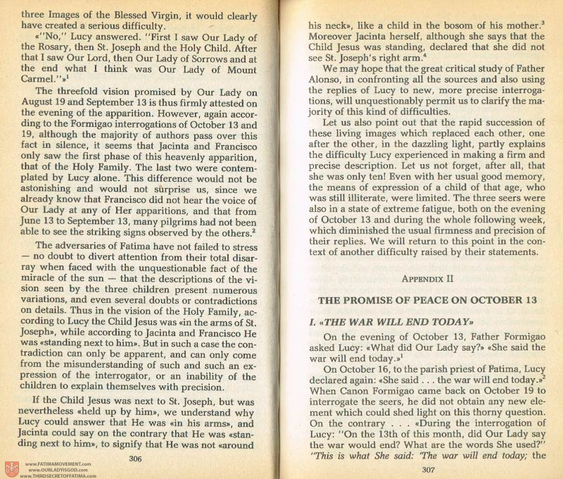 The Whole Truth About Fatima Volume 1 pages 306-307