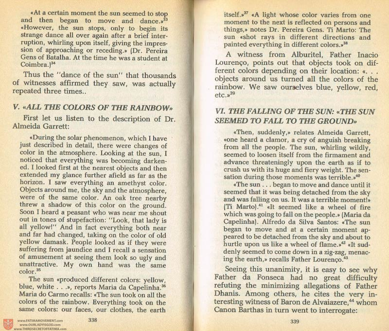 The Whole Truth About Fatima Volume 1 pages 338-339