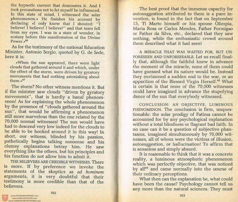 The Whole Truth About Fatima Volume 1 pages 352-353