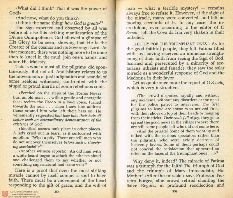 The Whole Truth About Fatima Volume 1 pages 358-359