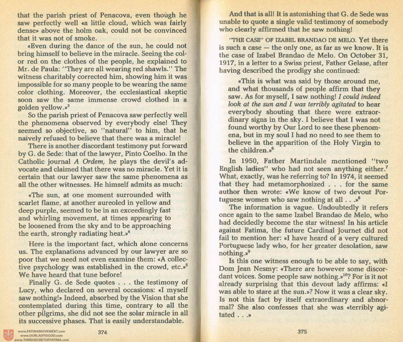 The Whole Truth About Fatima Volume 1 pages 374-375