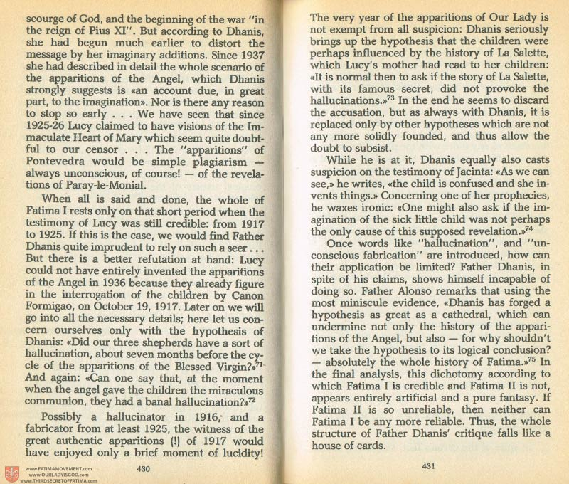 The Whole Truth About Fatima Volume 1 pages 430-431