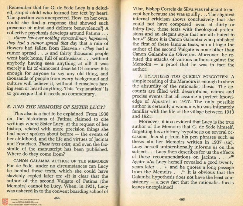 The Whole Truth About Fatima Volume 1 pages 464-465
