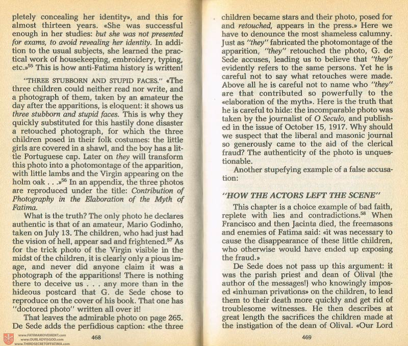The Whole Truth About Fatima Volume 1 pages 468-469