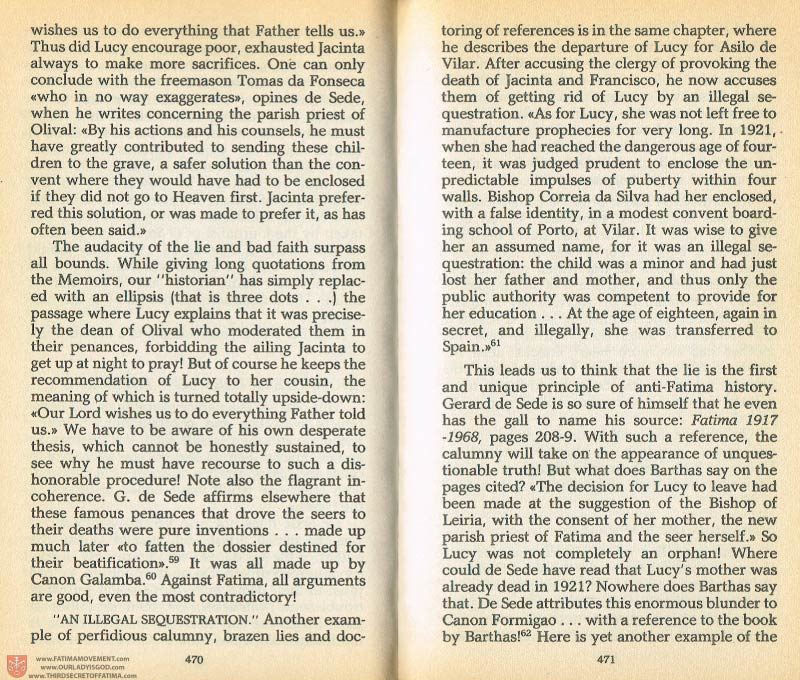 The Whole Truth About Fatima Volume 1 pages 470-471