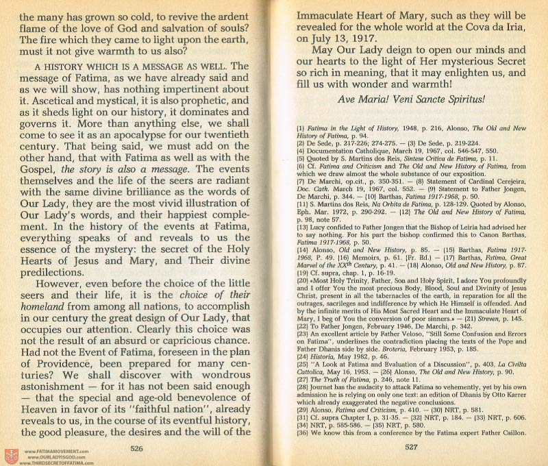 The Whole Truth About Fatima Volume 1 pages 526-527