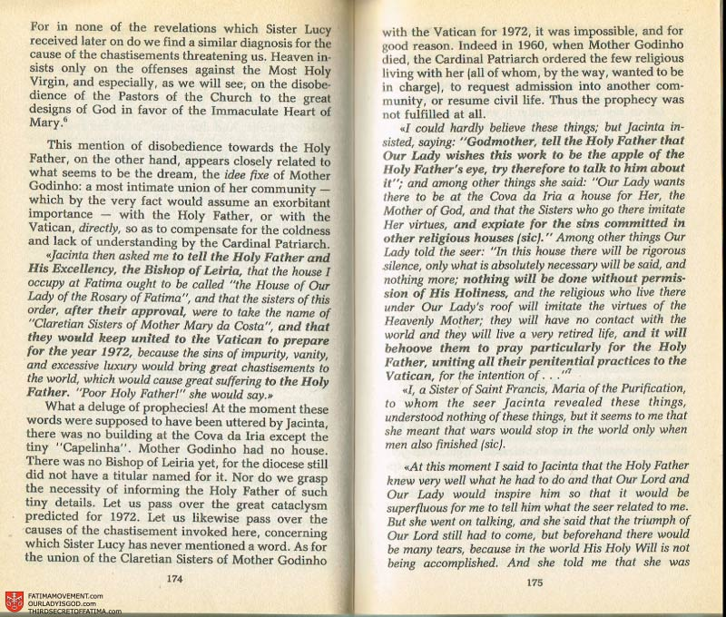The Whole Truth About Fatima Volume 2 pages 160-161