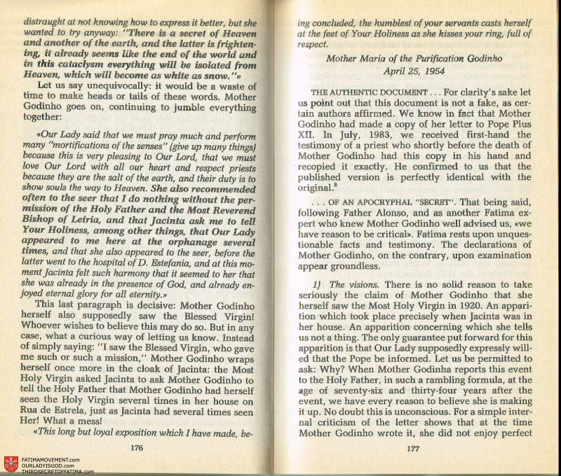 The Whole Truth About Fatima Volume 2 pages 162-163