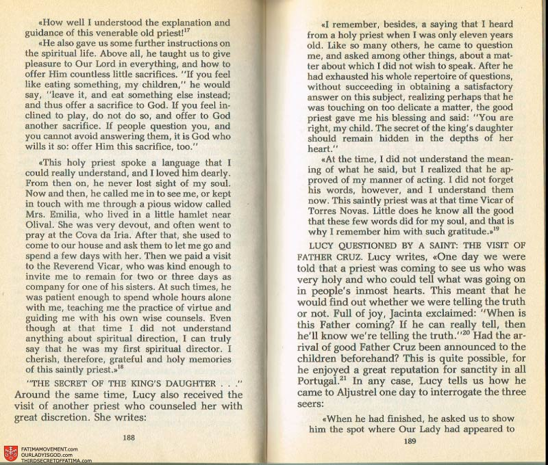The Whole Truth About Fatima Volume 2 pages 174-175