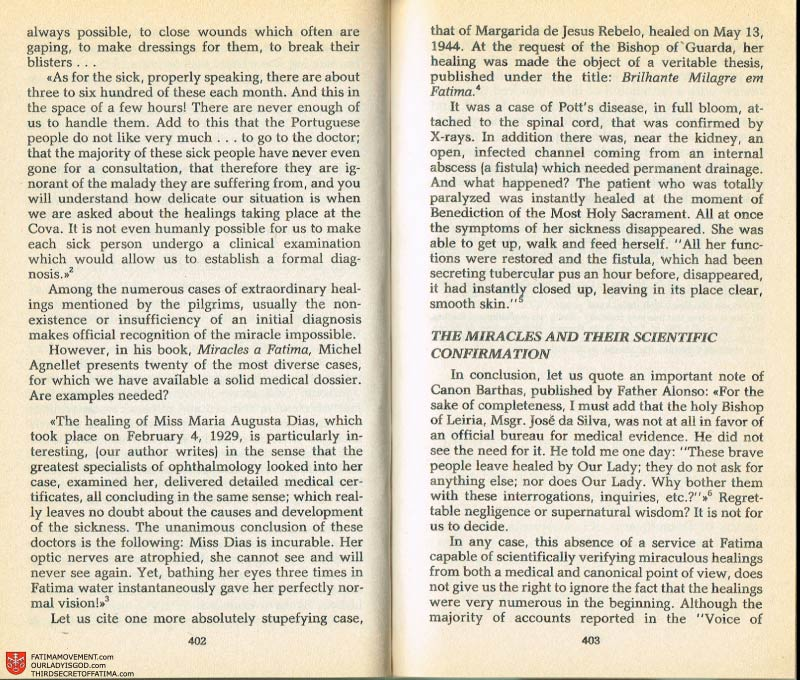 The Whole Truth About Fatima Volume 2 pages 388-389