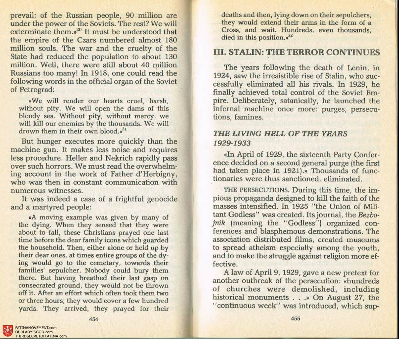 The Whole Truth About Fatima Volume 2 pages 432-433