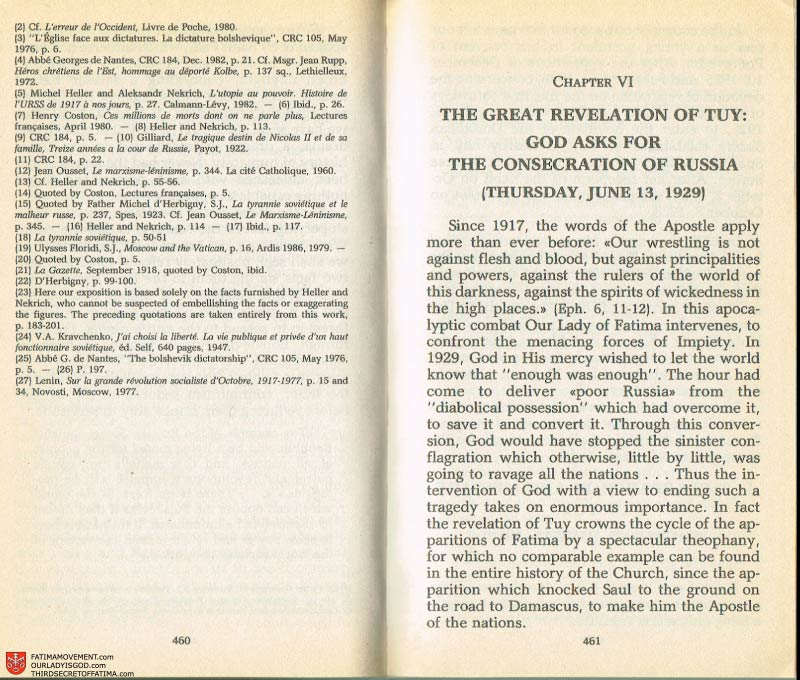 The Whole Truth About Fatima Volume 2 pages 438-439