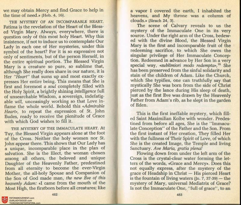 The Whole Truth About Fatima Volume 2 pages 460-461