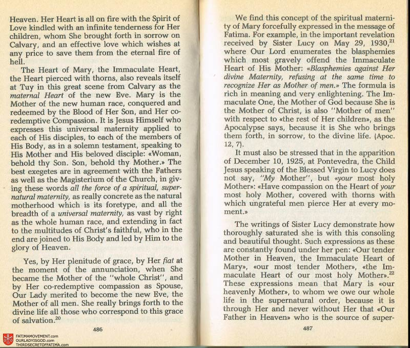 The Whole Truth About Fatima Volume 2 pages 464-465