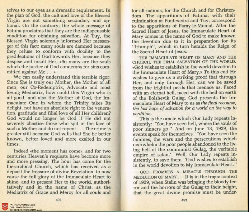 The Whole Truth About Fatima Volume 2 pages 470-471