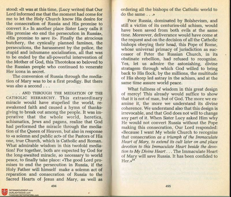 The Whole Truth About Fatima Volume 2 pages 472-473