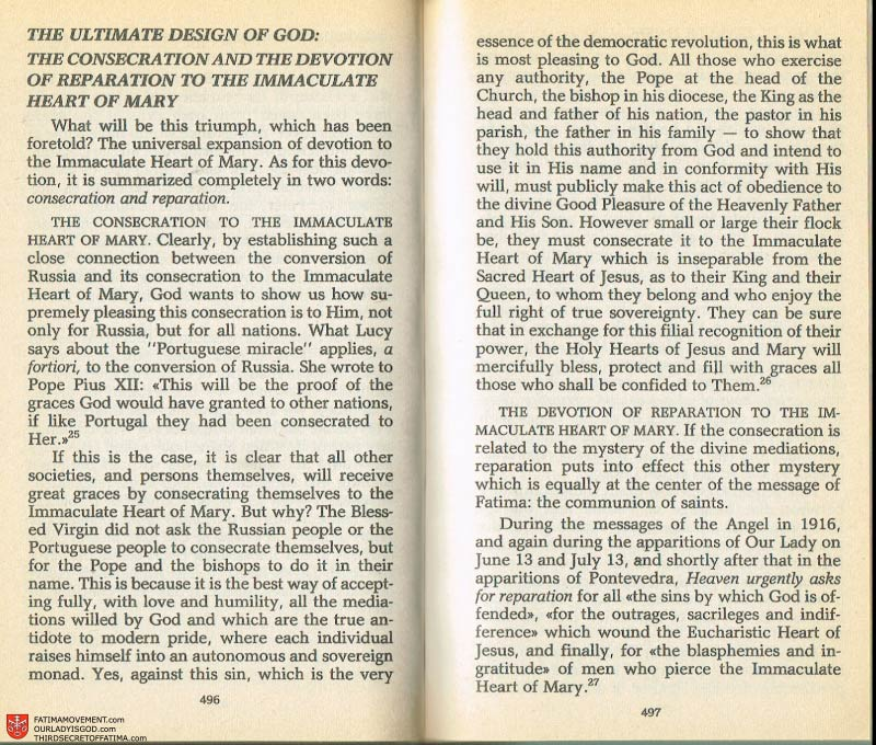 The Whole Truth About Fatima Volume 2 pages 474-475
