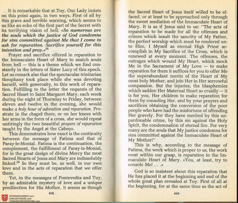 The Whole Truth About Fatima Volume 2 pages 476-477